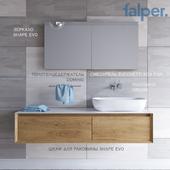 Furniture washbasin SHAPE EVO (width 1530 mm) + mixer Zucchetti Kos Pan