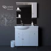 Sink with pedestal IDO Mosaik