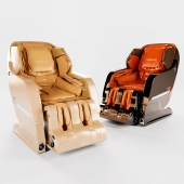 Massage chair Yamaguchi Axiom in Champagne and Chrome colors