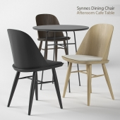 Synnes Dining Chair and Afteroom Cafe Table