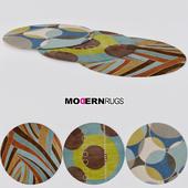 Modern Rugs round set #3