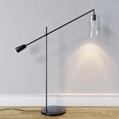 West Elm Adjustable Glass Floor Lamp