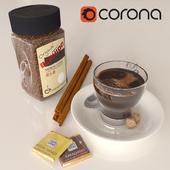 Кофе bushido и декоративный набор