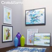 Crate&Barrel decor set 1