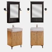 The Ikea, sink hemnviken, hemnes mirror cabinet silveron