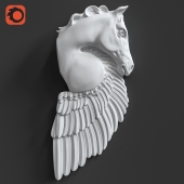 Pegasus Horse Wall Sculpture
