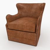 Elston Leather Swivel Chair