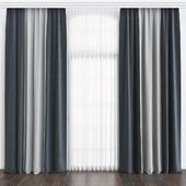 Dirty blue curtains