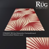 Carpet STINGRAY RED, The Rug Company