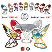 Table Prisma, chairs Art (RA-DESIGN)