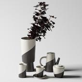 Shift Porcelain Moroccan Tea Set