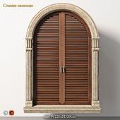 Window arch shutters