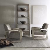 Bernhardt - Silvain Chair & Chilton Etagere
