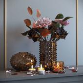 Декоративный набор с сухоцветами
