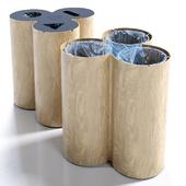 Trio recycling bin by Materia