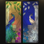 Stained Glass Peacock