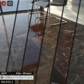 TUREX INTERNATIONAL Marble Tiles Set 07