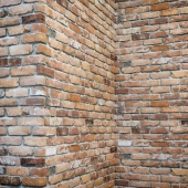 Brick wall with corners