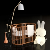Crib Bed. Miffy-Amelung floorlamp