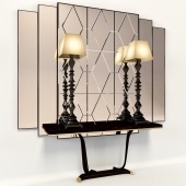 Console with mirror and lamps Transition by CASALI