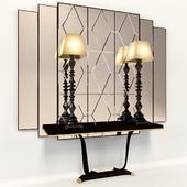 Консоль с зеркалом и лампами  Transition by CASALI