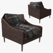 West Elm Lindrum Leather Armchair
