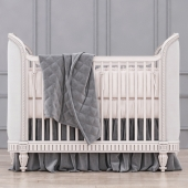 RH Belle Upholstered Crib (Antique Grey Mist)