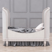 RH Belle Upholstered Toddler Bed (Antique Grey Mist)