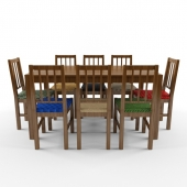 set of table and 8 chairs