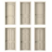 six interior doors beige color