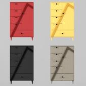 wardrobe : Vertex 1-door and 5-drawer Armoire