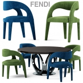 Table and chairs fendi casa Berenice Chair