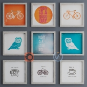 9 Piece Framed Wall Art Set
