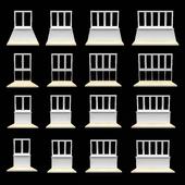 A set of windows for balcony