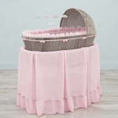 RH Heirloom wicker bassinet & mattres
