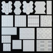 3D Wall Panel Collection - 1