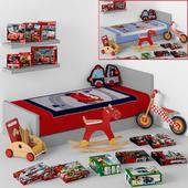 Decoration set for boy-room (cars,vehicle)