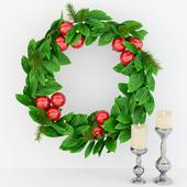 Christmas wreath of laurel