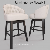 "Farmington 29 ""Swivel Bar Stool by Alcott Hill"