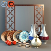 Decorative set in oriental style