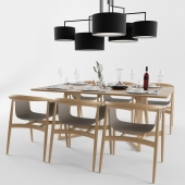 Dinning Table Set Zeitraum with Accessories