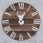 Deer Silhouette Wall Clock