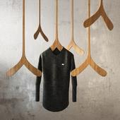 Hanger Hanging SCHTICK Canadiana Clothing Hanger + Sweater