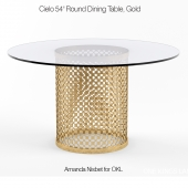 Cielo 54 Round Dining Table Gold