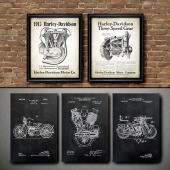 The picture in the frame. 117. Motorcycle Collection