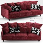 Sofa canape angle velours