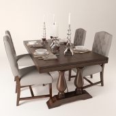 Pottery Barn Ashton tufted dinning chair Lorraine extending dinning table