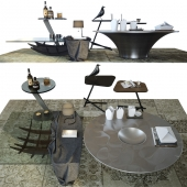 Set coffee tables Sattelan Italia