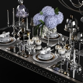 Sophie Mirrored Dining Table_set