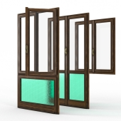 classic wood window